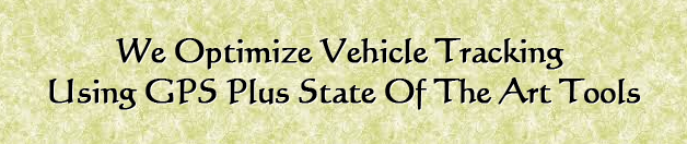 We optimize vehicle tracking using GPS plus state of the art tools