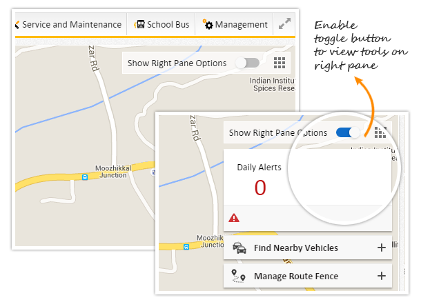 Fleet tracking - Show and hide tools