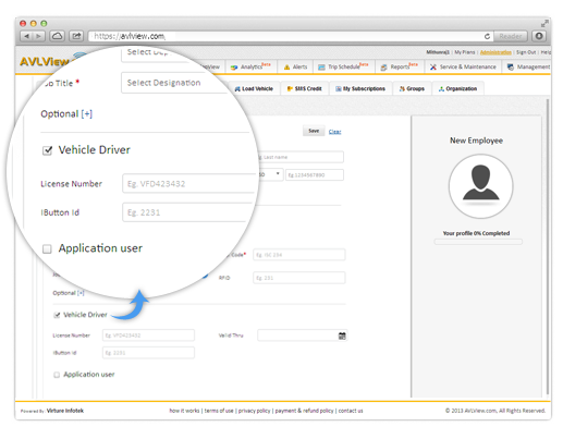 Create employee profiles - fleet automation