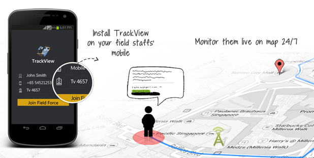 Track your mobile staff; gain maximum field productivity