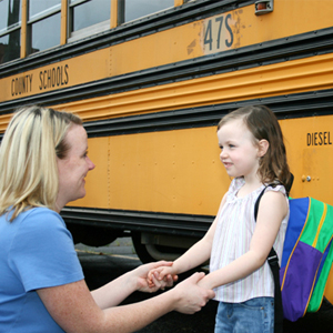 رصد الطلاب وحافلات المدرسة