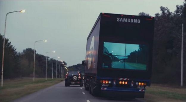 تجاوز شاحنة كبيرة أمامك بأمان، مع التكنولوجيا الجديدة من سامسونج